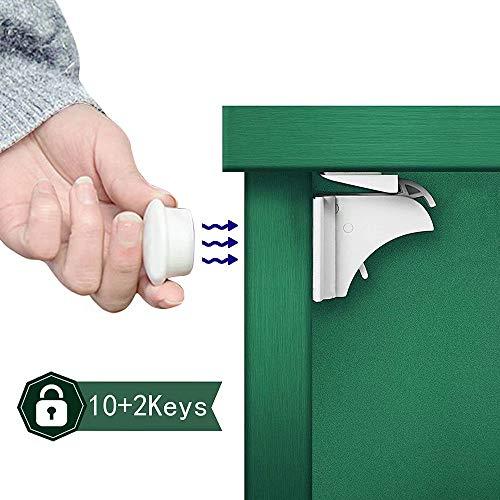 Flywill Cerraduras de Armarios Magnéticas de Seguridad para Niños: 1