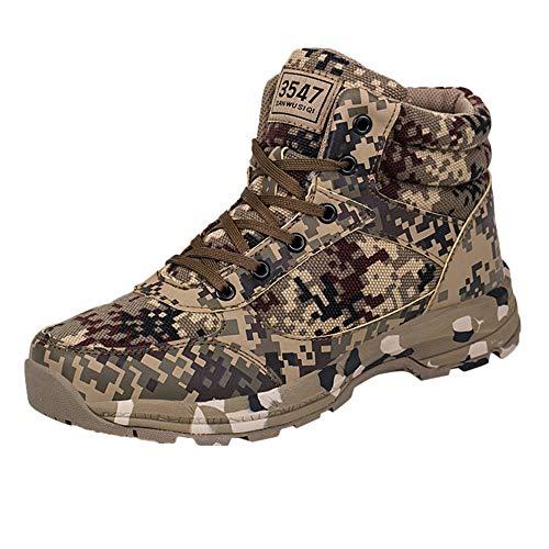 HCFKJ Zapatos Casual Moda De Los Hombres Invierno Camuflaje Al Aire Libre del...