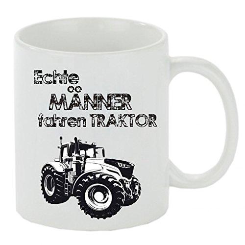 """Kaffeebecher \"""" Echte Männer fahren Traktor (neu) \"""" Kaffeetasse mit Motiv, bedruckte Tasse mit Sprüchen oder Bildern - auch individuelle Gestaltung"""
