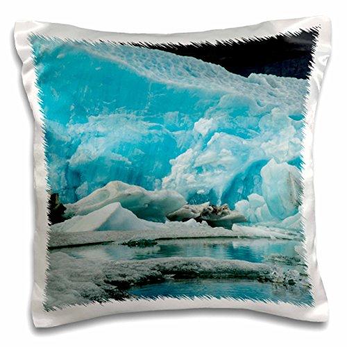 Danita Delimont - Jaynes Gallery - Ice - Iceland, Jokusarlon. Blue iceberg reflects in water. - 16x16 inch Pillow Case (pc_188433_1)