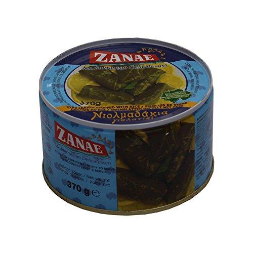 Griechische Weinblätter gefüllt mit Reis 370g Fertiggericht Zanae aus Griechenland gefüllte Wein...