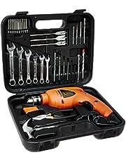 Black+Decker HD455KA 10mm 550 Watt Impact Drill Kit, Engineered Plastic (Orange, 41-Pieces)
