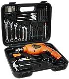#9: Black+Decker HD455KA 10mm 550 Watt Impact Drill Kit (Orange, 41-Pieces)