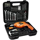 Black+Decker HD455KA 10mm 550 Watt Impact Drill Kit (Orange, 41-Pieces)