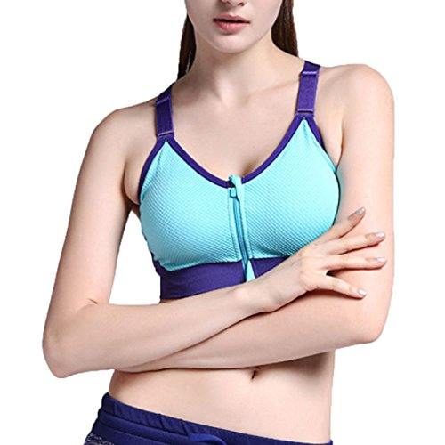 Soutien-gorge De Sport Yoga Shockproof Fitness Sous-vêtements blue