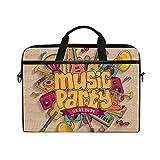 Ahomy Laptop-Tasche/Aktentasche / Schultertasche/Umhängetasche / Messengertasche/Schultertasche für Musik/Party, Gitarre, Klavier, Musikinstrumente, 14-15,4 Zoll