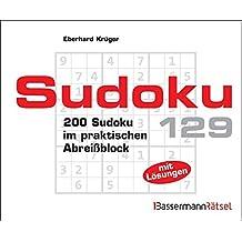 Sudoku Block 129 - 5er VE: 200 Sudoku im praktischen Abreißblock