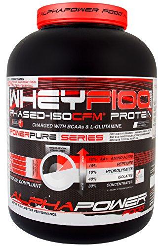 ALPHAPOWER FOOD® - POWERPURE SERIES : CFM WHEY F100 Platinum FACTOR 5X PHASED-ISOCFM® (1x Dose 2000g Geschmack: Wild Berry Mix), 40% Isolate Protein Eiweißshake, 10% Hydrolysat Protein Shake, 10% Peptide Eiweiß, 30% Konzentrat Proteinpulver, 10% Aminosäuren Platinum-berry