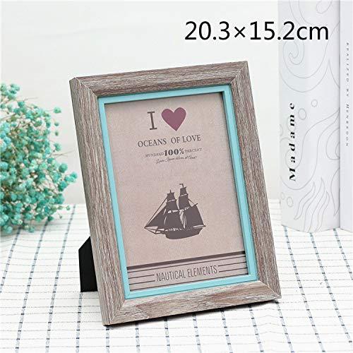 Speedmar Baby Geburtstag Memo Fotoalbum Ca. 20,3 × 15,2 cm ich Liebe Dich Foto Rahmen Kontrast Farbe bilderrahmen für hauptdekoration (zufällige Farbe)