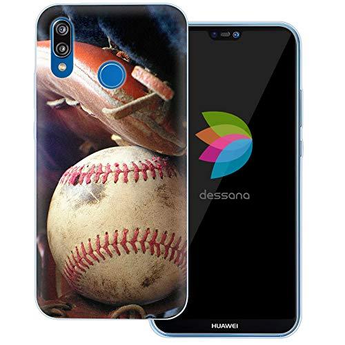 dessana Baseball Transparente Schutzhülle Handy Case Cover Tasche für Huawei P20 Lite Baseball Training Mlb Baseball-handy