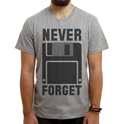 Never Forget Silicon Valey Folppy Disc Classic Medium Uomini V-Neck T-Shirt