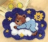 6 Modell Bär Knüpfteppich Formteppich für Kinder und Erwachsene zum