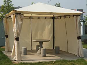luxus pavillon venezia 3x3m mit seitenteilen. Black Bedroom Furniture Sets. Home Design Ideas