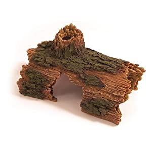 Rosewood Log Tunnel Aquarium Decor, Medium