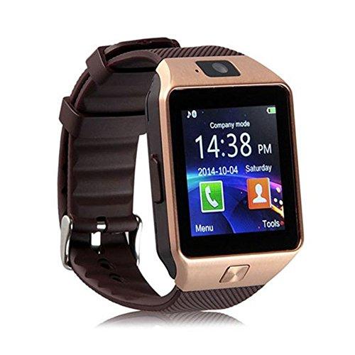 DZ09Bluetooth Smart Watch Wearable appareils avec emplacement pour carte SIM TF Electronics Smart Watch 3,9cm écran tactile pour smartphone Android IOS Ssmartphone
