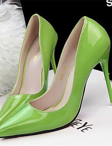 WSS 2016 Chaussures Femme-Habillé / Soirée & Evénement-Noir / Vert / Rose-Talon Aiguille-Talons-Talons-Similicuir black-us7.5 / eu38 / uk5.5 / cn38