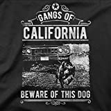 BLAK TEE Gangs of California Beware of This Dog It Might Bite You Slogan Unisex Homme Femme Pullover Hoodie