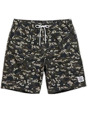 Ejecutando Mens Shorts sudor junta hombres cortos trajes de baño Boardshorts camisas de malla de baño Sport patrón...