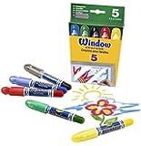 Crayola - 52-9765 - 5 crayons pour fenêtres
