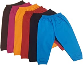 Twist Fab Infant kids Lower Track Pant, Cotton Pajama With Bottom Ribs Pack of 6 (Multicolored)