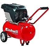 Einhell Kompressor TE-AC 400/50/10 (2,6 kW, 50 L, Ansaugleistung 400 l / min, 10 bar, ölgeschmiert, große Räder und Haltebügel)