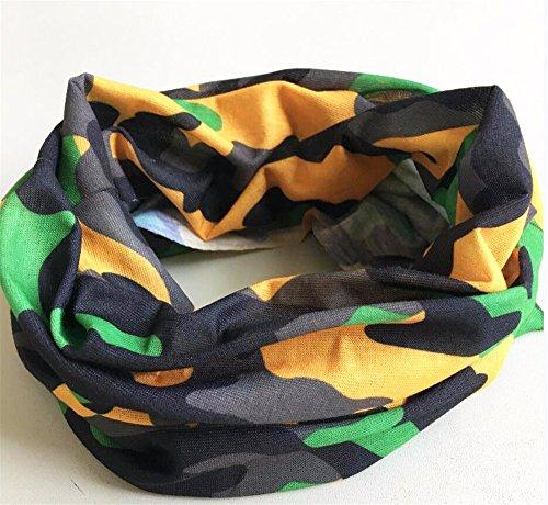 SHINA 12pcs Seamless Sport Camouflage Bandanas Tube multi-usage avec un foulard, masque facial, absorbant l'eau rapide et respirante etelastique envelopper avec la resistance UV set3