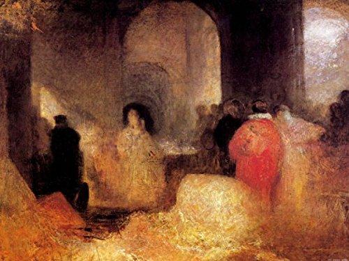 1art1 65418 Joseph William Turner - Abendessen Mit Menschen In Kostümen, 1830–1835 Poster Kunstdruck 80 x 60 cm (80 Menschen In Kostümen)