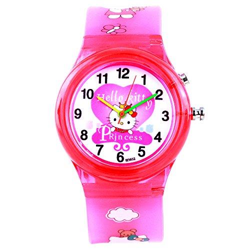 Devars H3032-DPK-KITTY-3  Analog Watch For Girls