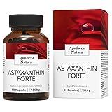 Apotheca Natura Astaxanthin Forte, 60 Hochwirksame Reine Vegane Kapseln, Natürliches Antioxidans gegen freie Radikale