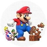 Tortenaufleger Tortenfoto Aufleger Foto Bild Super Mario Bros rund ca. 20 cm (2) *NEU*OVP*
