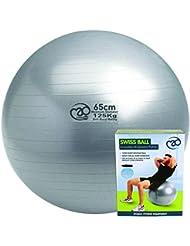 Fitness-Mad Anti-Burs Balle suisse t Argenté65 cm 125 kg