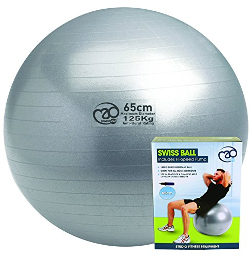 Pilates - Mad 125KG Anti - Bomba de pelota, tamaño 65 UK, color plateado