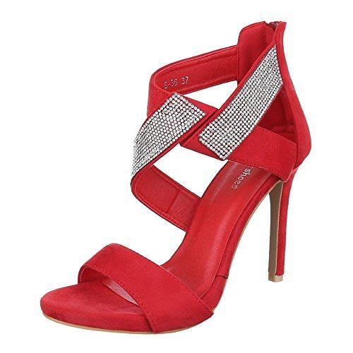 Ital-Design , Sandales pour femme Rouge