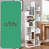 QIANGDA Bücherregal Baumform Bücherschrank Blumenregal 8 Schichten Lagerregal Gebrauchsgut, 48 X 20 X 132 cm, 8 Farben Wahlweise (Farbe : Weiß)