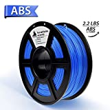 3D Filament, ABS 3D Printer Filament 1.75mm, 1KG Spool(2.2lbs),3D Printing Filament Dimensional Accuracy +/- 0.02mm- NO Clogging(Blue)