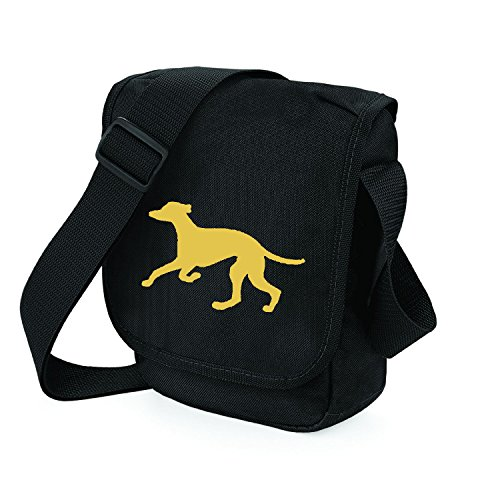 Bag Pixie - Borsa a tracolla unisex adulti Fawn Hound Black Bag