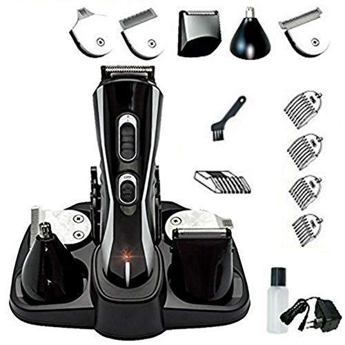 Eurosell Premium HT de 20B set Cortapelos Cortapelos batería recargable + Cabezales + Maquinilla de Afeitar + Recortador para nariz cortapelos Cutter