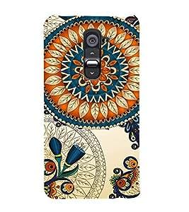 FIOBS royal prince leafy floral design multicoloured Designer Back Case Cover for LG G2 :: LG G2 Dual D800 D802 D801 D802TA D803 VS980 LS980