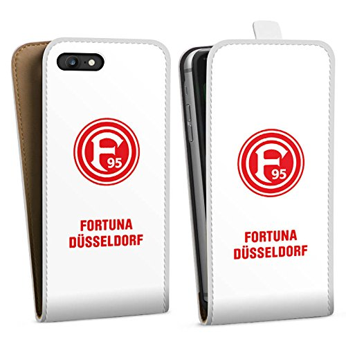 Apple iPhone 7 Hülle Premium Case Cover Fortuna Düsseldorf Fanartikel Bundesliga Downflip Tasche weiß