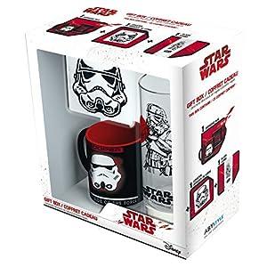 ABYstyle abypck100-Star Wars Mini-mug con Posavasos y Vaso Trooper