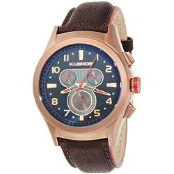 K & BROS Männer 9455-3 Stahl Luna Chronograph Brown Ion-Plated Uhr