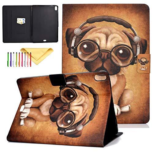 Schutzhülle für Apple iPad Pro 27,9 cm (Version 2018), Cookk Leichte Hülle [Kartenschlitz] [Stifthalter] [Auto Sleep/Wake] Smart Cover für Apple iPad Pro 11 Zoll 2018#02 Music Dog 11.0 Inch Butterfly Music Box