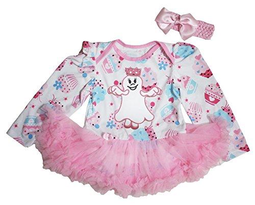 n Baby Dress Ghost Princess Cupcake L/s Bodysuit Tutu Nb-18m (0-3 Monats) (Princess Tutu Halloween Kostüm)