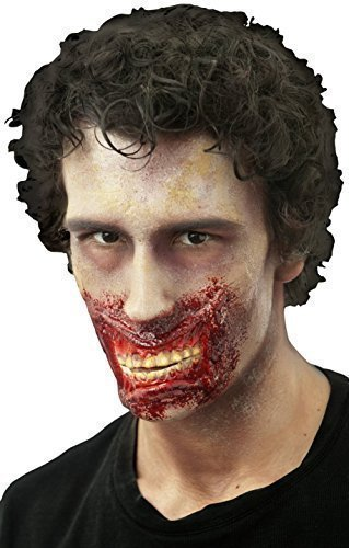 Damen Herren Halloween Blutige Zombie Spezialeffekte Latex Make-up Kostüm Kleid Outfit Kit - Chatter Mund, (Kostüme Mund)