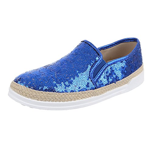 Damen Schuhe, LB930-1, HALBSCHUHE SLIPPER Blau
