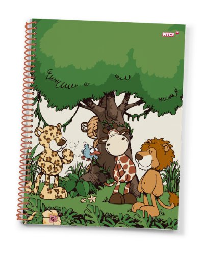 Nici Wild Friends A4, kariert Notizblock
