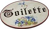Kaltner Präsente Geschenkidee - Türschild Schild aus Holz im Antik Design TOILETTE