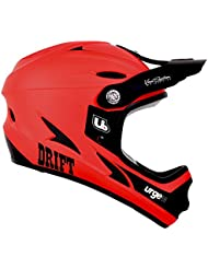 Urge Drift - Casco integral, color rojo, color rojo, tamaño medium