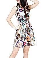 Atdoshop(TM)1PC femmes d'été sans manches Tournesol Lady Casual Mini Robe de plage