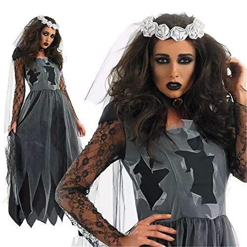 (Sijux Frauen Halloween Kostüme Horror Ghost Braut Zombie Vampir Party Bühnenshow Cosplay Kostüme Kleid,312,M)